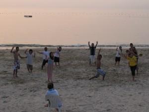マルコさんたちとビーチバレー